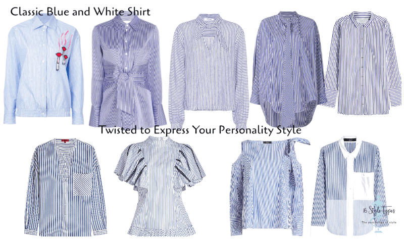 Discover how you can express your personality through your clothing - here is the classic with a twist blue and white striped shirt